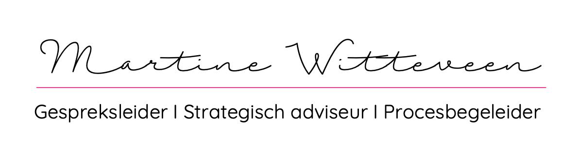 Martine Witteveen -gespreksleider-  dagvoorzitter- strategisch adviseur- fungaderen Logo